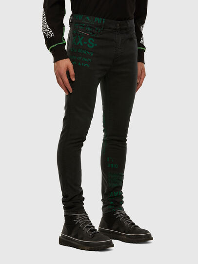 Diesel - D-Reeft JoggJeans 009HD, Nero/Grigio scuro - Jeans - Image 6