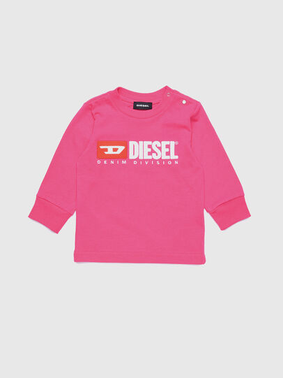 Diesel - TJUSTDIVISIONB ML, Fucsia - T-shirts e Tops - Image 1
