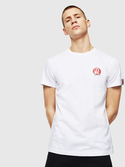Diesel - LR-T-DIEGO-VIC, Bianco - T-Shirts - Image 1