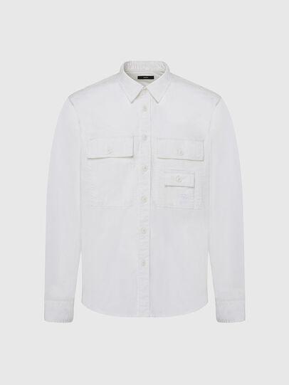Diesel - S-ALLEN-KA, Bianco - Camicie - Image 1