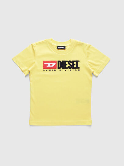 Diesel - TJUSTDIVISIONB-R, Giallo - T-shirts e Tops - Image 1