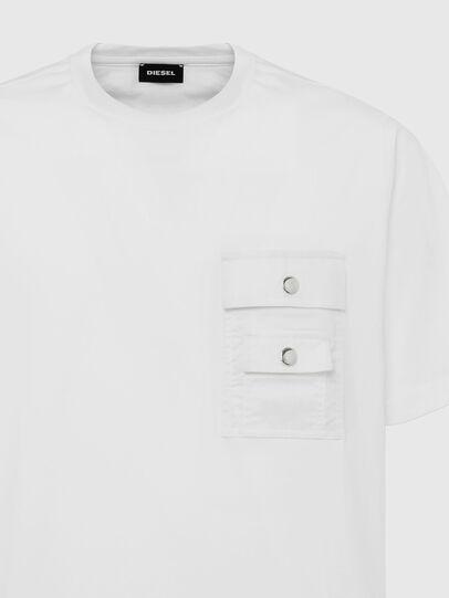 Diesel - T-TASK-SLITS, Bianco - T-Shirts - Image 3