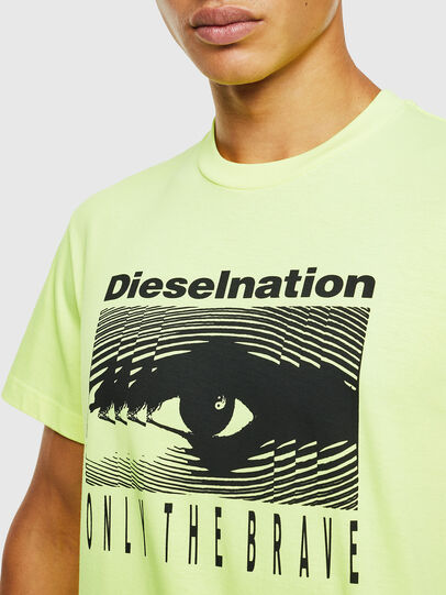 Diesel - T-DIEGO-J4, Giallo Fluo - T-Shirts - Image 5
