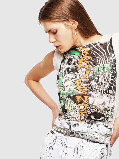 Diesel - T-DARIA-YB, Bianco - T-Shirts - Image 4