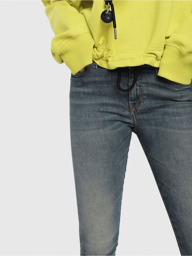 Diesel - Slandy Zip 085AZ, Blu medio - Jeans - Image 3
