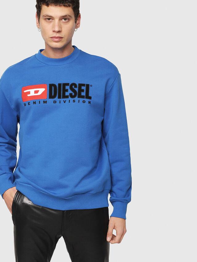 Diesel - S-CREW-DIVISION, Blu Brillante - Felpe - Image 1