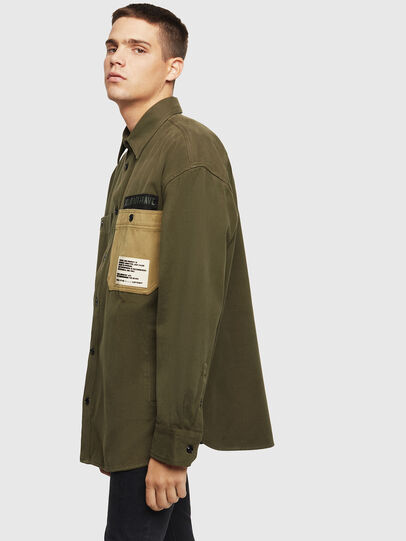 Diesel - S-LEBED, Verde Scuro - Camicie - Image 5