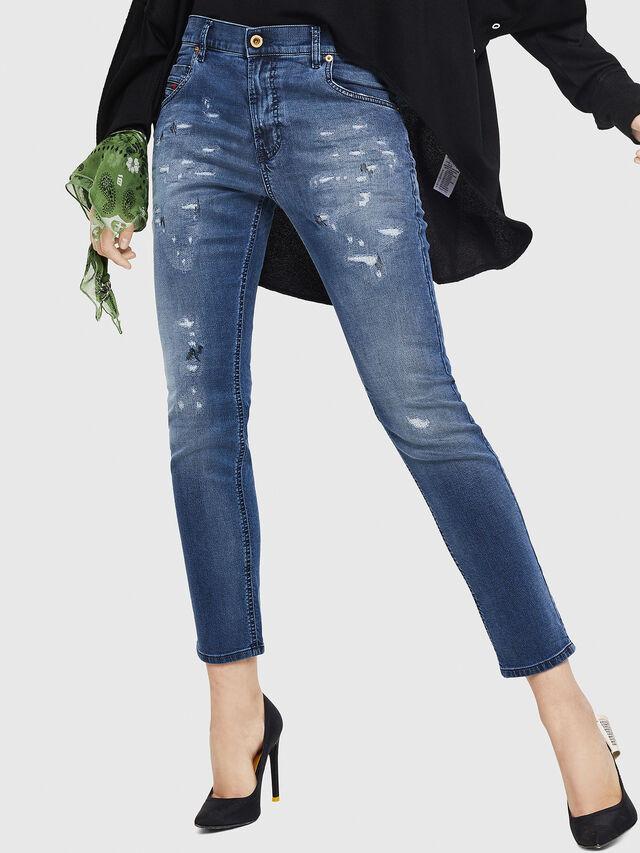 Diesel - Krailey JoggJeans 069HA, Blu medio - Jeans - Image 1