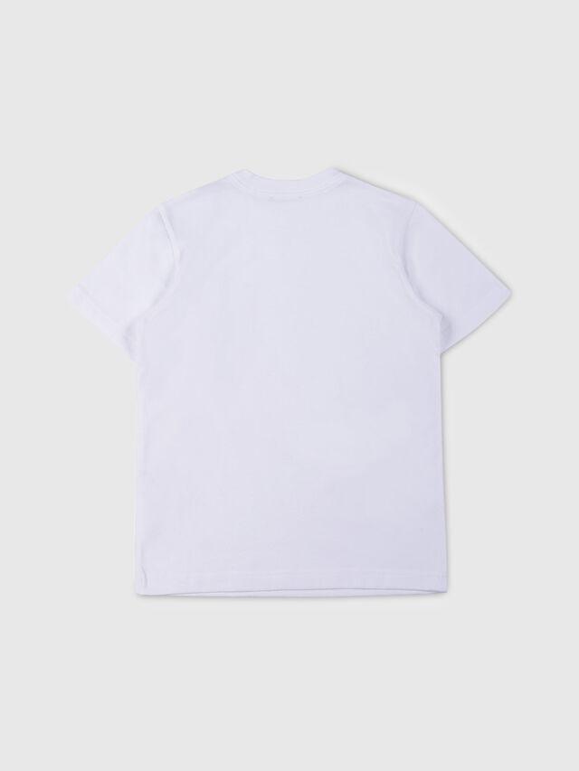 Diesel - TJUSTPOCK, Bianco - T-shirts e Tops - Image 2