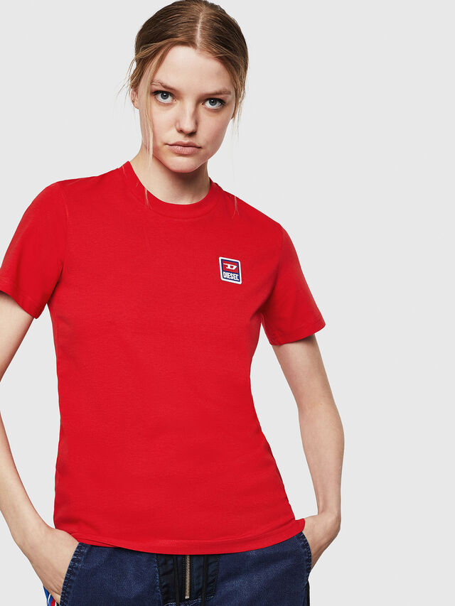 Diesel - T-SILY-ZE, Rosso Fuoco - T-Shirts - Image 1