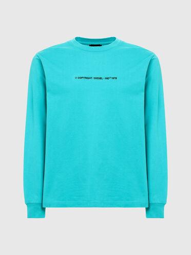 T-shirt a manica lunga con logo ricamato
