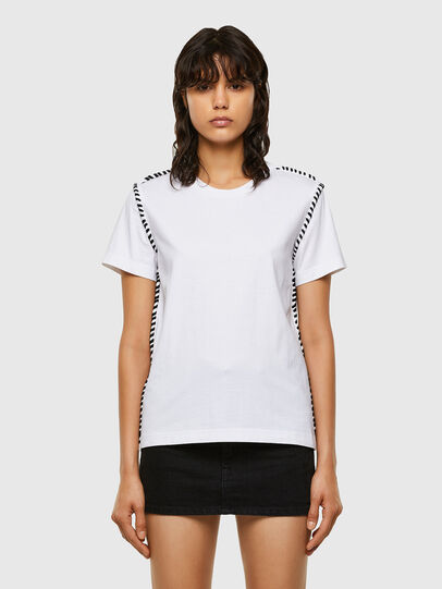 Diesel - T-TWISTY, Bianco - T-Shirts - Image 1