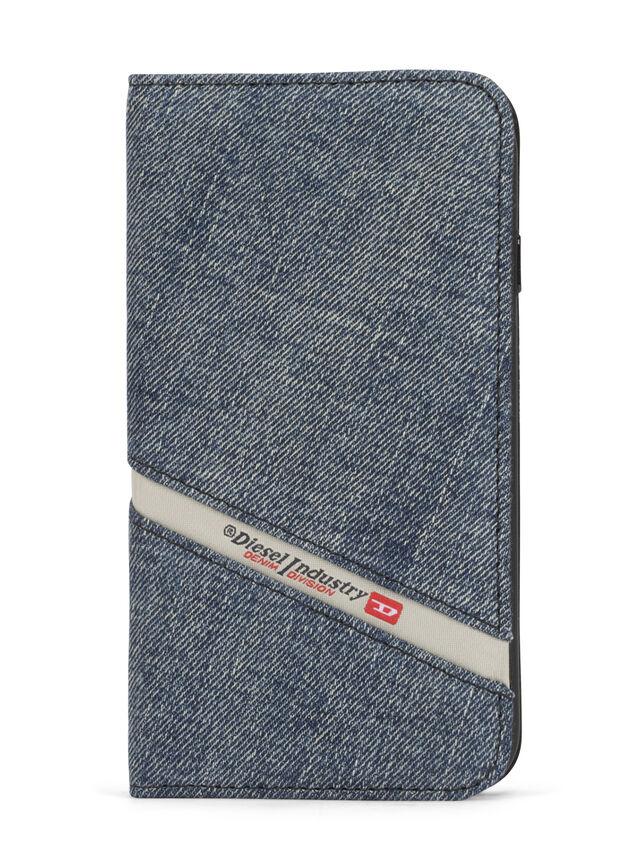 Diesel - DENIM IPHONE 8 PLUS/7 PLUS FOLIO, Blu Jeans - Cover a libro - Image 1