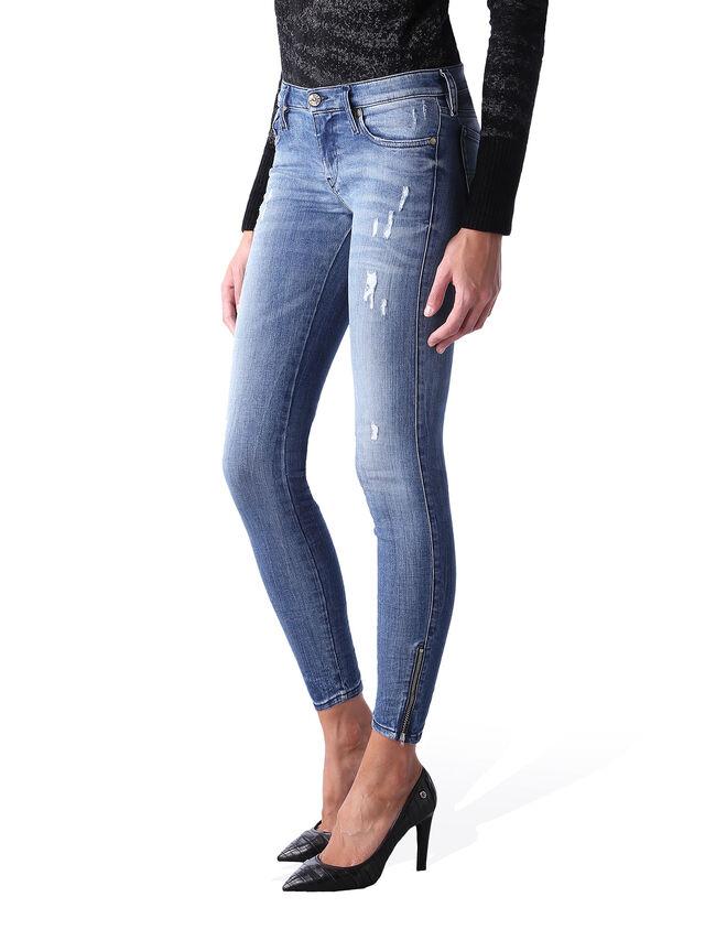 Diesel - Skinzee Low Zip 0847U, Blu medio - Jeans - Image 3