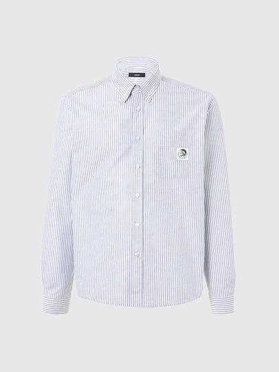 Diesel - S-JAMES-A, Blu/Bianco - Camicie - Image 1