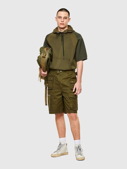 Diesel - P-CYAN-SHORT, Verde Militare - Shorts - Image 5