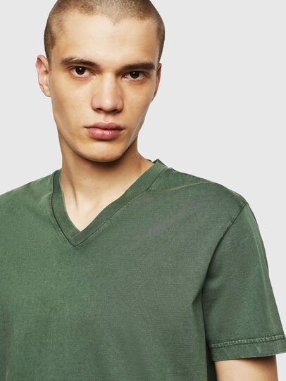 Diesel - T-THEA, Verde Scuro - T-Shirts - Image 3