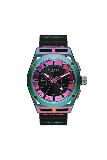 Cronografo Timeframe con cinturino in silicone nero