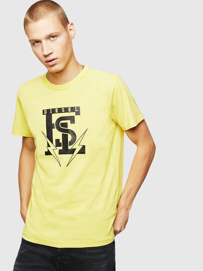 Diesel - T-DIEGO-B14, Giallo - T-Shirts - Image 1
