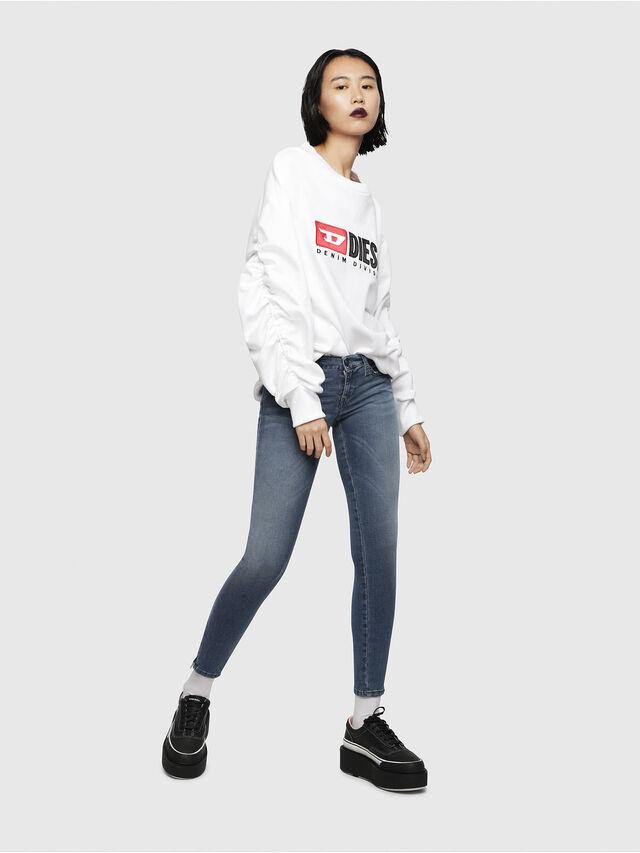 Diesel - Skinzee Low Zip 0681P, Blu medio - Jeans - Image 4