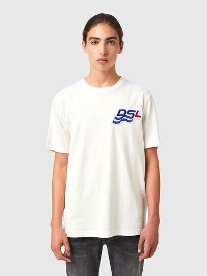 Diesel - T-JUST-B83, Bianco - T-Shirts - Image 1