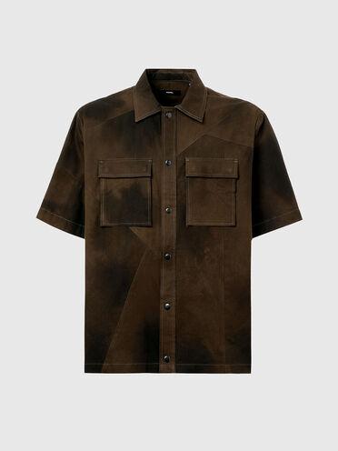 Camicia in tela con tie-dye