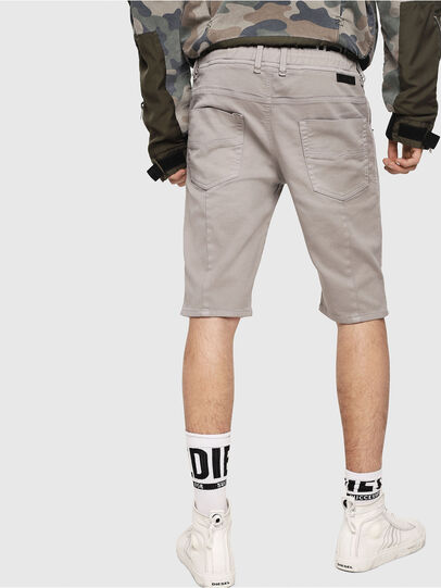 Diesel - D-KROOSHORT JOGGJEANS, Grigio - Shorts - Image 2