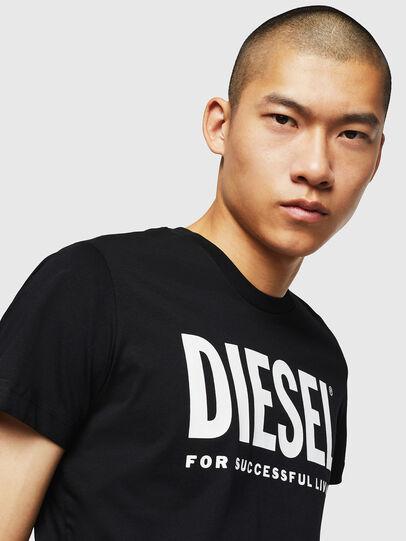Diesel - T-DIEGO-LOGO, Nero - T-Shirts - Image 3