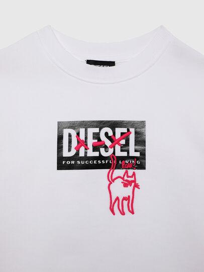 Diesel - SMUGD OVER, Bianco - Felpe - Image 3