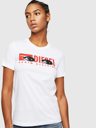 Diesel - T-SILY-YD, Bianco - T-Shirts - Image 1
