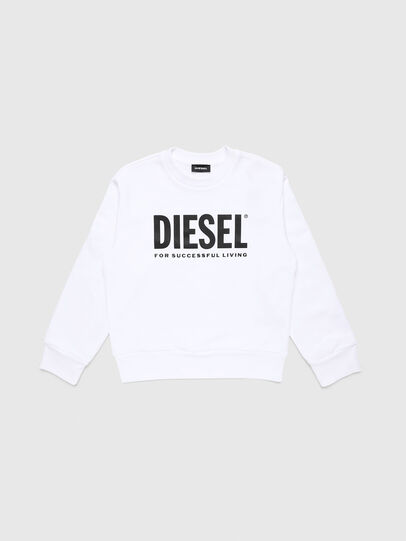 Diesel - SCREWDIVISION-LOGO O, Bianco - Felpe - Image 1