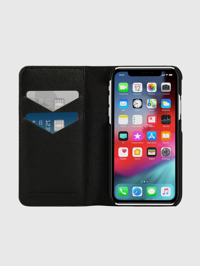 Diesel - DIESEL 2-IN-1 FOLIO CASE FOR IPHONE XR, Nero/Bianco - Cover a libro - Image 7