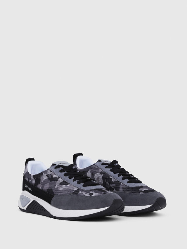 Diesel - S-KB LOW LACE, Grigio/Nero - Sneakers - Image 2