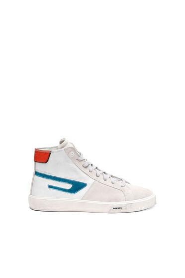 Sneaker alte con logo D metallizzato
