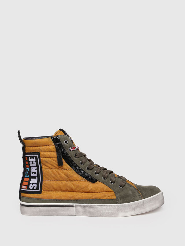 Diesel - D-VELOWS MID PATCH, Giallo - Sneakers - Image 1