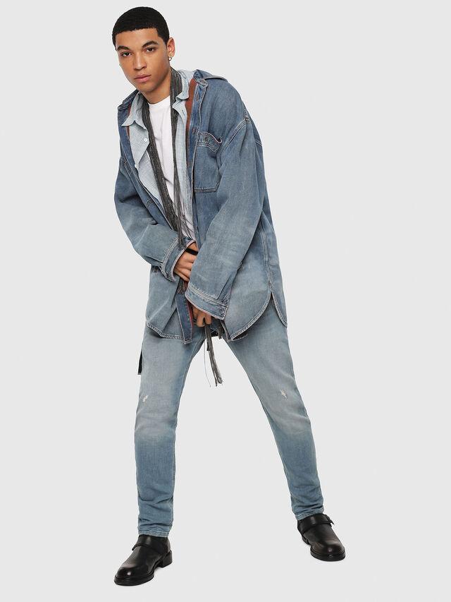 Diesel - Krooley JoggJeans 086AY, Blu medio - Jeans - Image 5