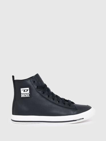 Sneaker alte in pelle con logo D