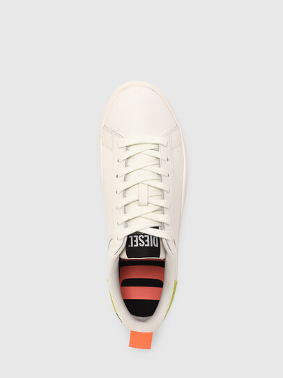 Diesel - S-CLEVER LOW LACE, Bianco/Giallo - Sneakers - Image 6