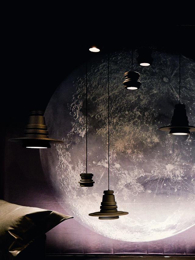 Living TOOL GRANDE SOSP, Nero - Lampade a Sospensione - Image 3