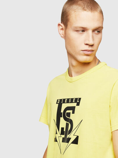 Diesel - T-DIEGO-B14, Giallo - T-Shirts - Image 3