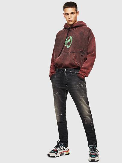 Diesel - Krooley JoggJeans 084AE, Nero/Grigio scuro - Jeans - Image 6