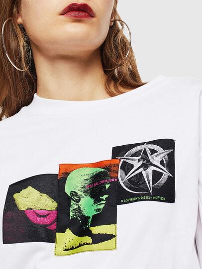 Diesel - T-GLYNIS-J1, Bianco - T-Shirts - Image 4