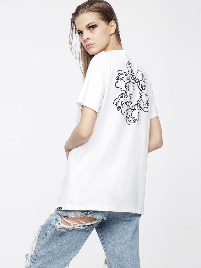 Diesel - T-DARIA, Bianco - T-Shirts - Image 2