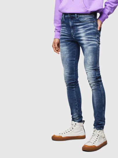 Diesel - D-Reeft JoggJeans 0096M, Blu Scuro - Jeans - Image 1