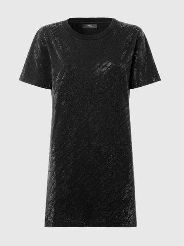 Abito stile T-shirt con micro borchie