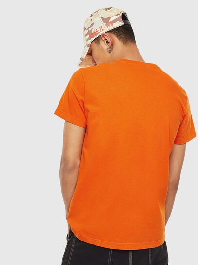 Diesel - T-WORKY-MOHI-S1, Arancione - T-Shirts - Image 2