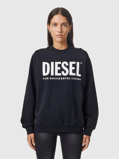 Diesel - F-ANG, Nero/Bianco - Felpe - Image 1
