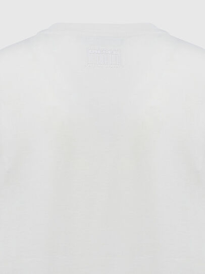 Diesel - T-SILY-E55, Bianco - T-Shirts - Image 4