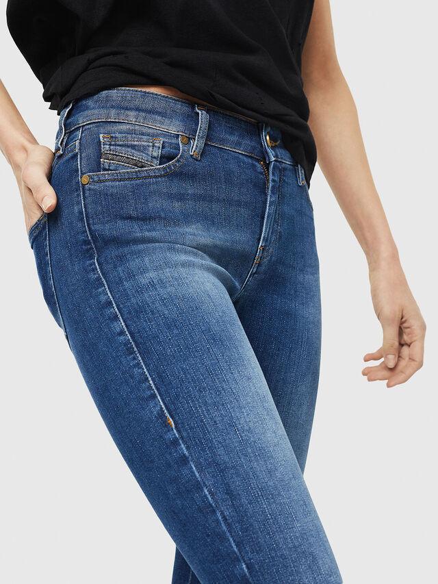Diesel - Slandy Zip 088AU, Blu medio - Jeans - Image 4