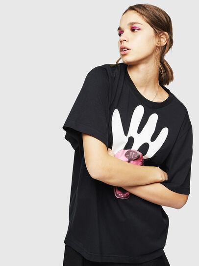 Diesel - T-JUSTINA, Nero - T-Shirts - Image 1